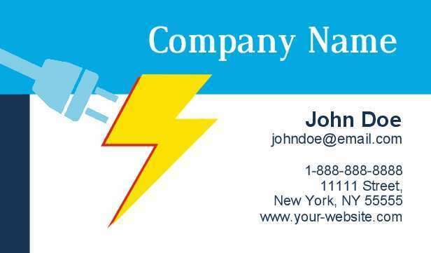 47 Free Business Card Template Electrician in Word with Business Card Template Electrician