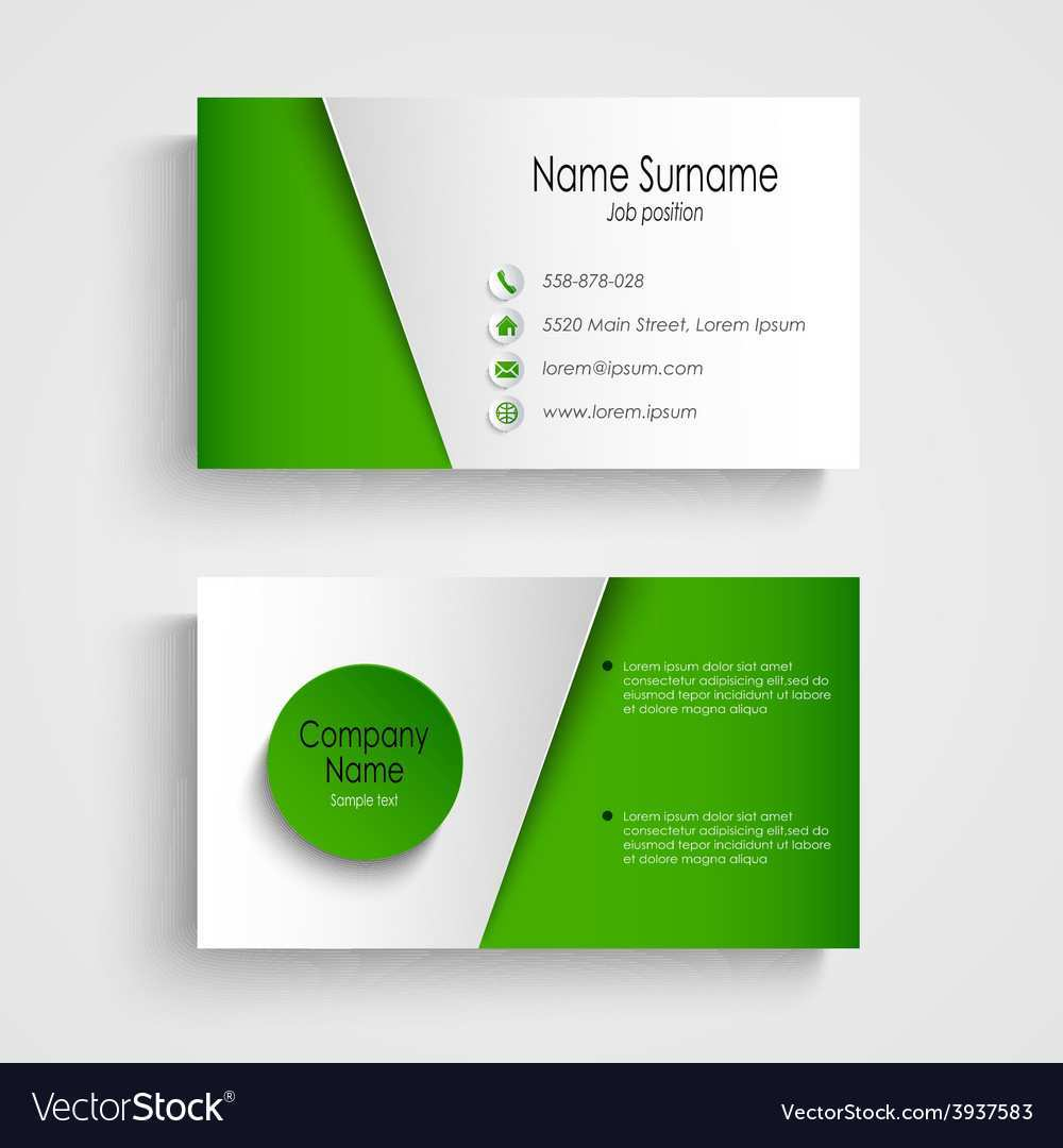 47 Free Business Card Template Green for Business Card Template Green