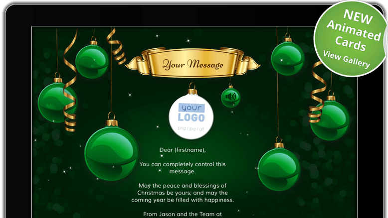 Electronic Christmas Card Template Free - Cards Design ...