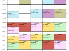47 Report Class Schedule Template College Templates with Class Schedule Template College