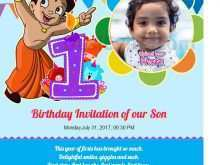 47 Standard 1St Birthday Card Template Word For Free by 1St Birthday Card Template Word