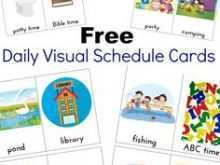 47 Visiting Visual Schedule Template Word With Stunning Design by Visual Schedule Template Word