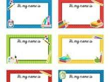 48 Adding Name Card Template Preschool Now with Name Card Template Preschool