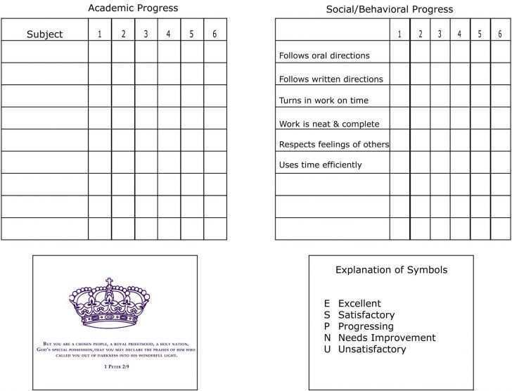 48 Best Free Printable Homeschool Report Card Template With Stunning Design for Free Printable Homeschool Report Card Template