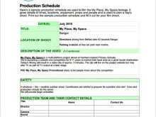 Production Planning Schedule Template
