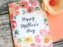 48 Creating Mothers Day Card Template Flower Formating by Mothers Day Card Template Flower
