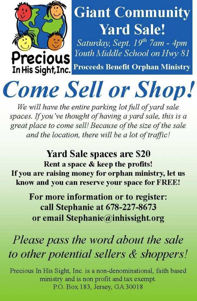 48 Creative Church Yard Sale Flyer Template Formating for Church Yard Sale Flyer Template