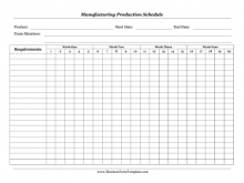 48 Creative Production Schedule Sample Template Maker with Production Schedule Sample Template