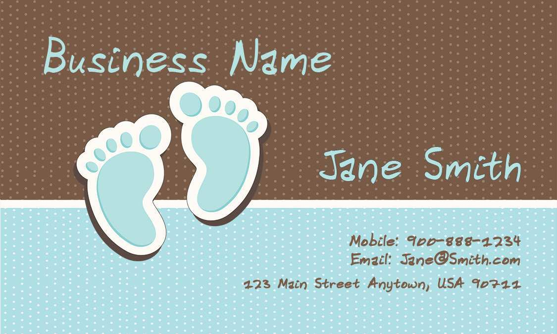 48 Customize Baby Name Card Template For Free by Baby Name Card Template