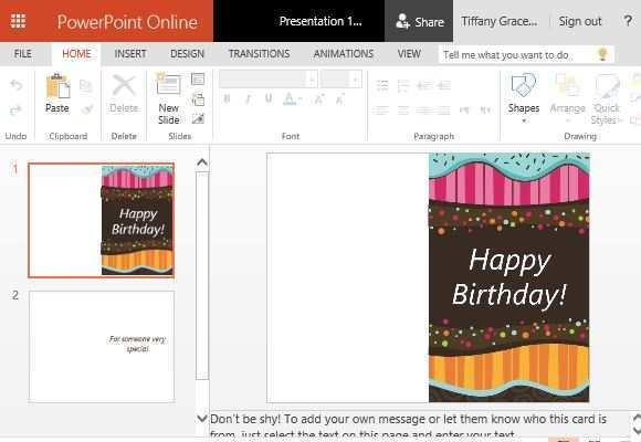 48 Customize Birthday Card Template In Powerpoint Maker with Birthday Card Template In Powerpoint