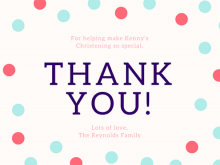 Create A Thank You Card Template
