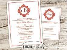 Wedding Card Template Eps