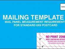 Postcard Mailing Template Usps