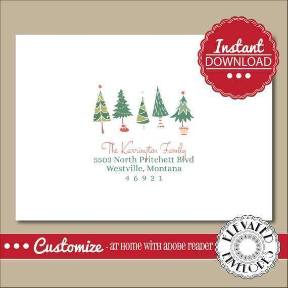 48 Free Christmas Card Address Template in Word by Christmas Card Address Template