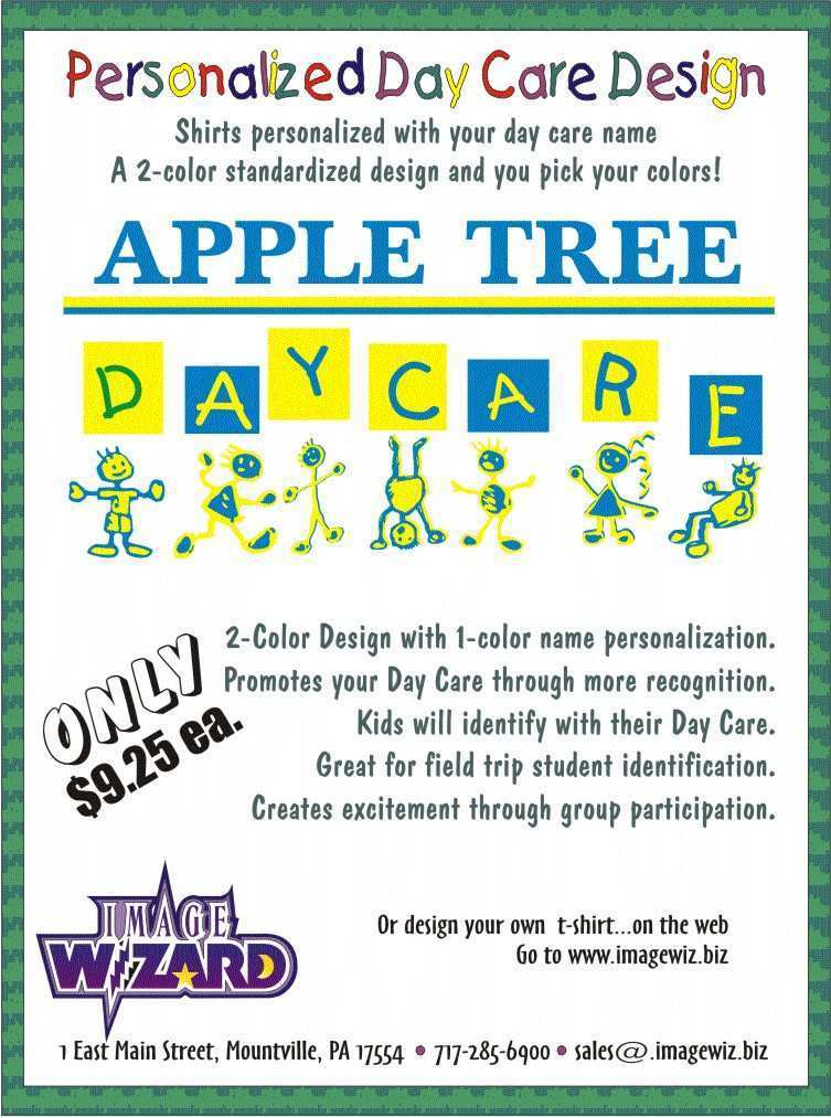 48 Free Home Daycare Flyer Templates With Stunning Design for Home Daycare Flyer Templates