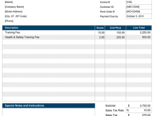 48 Free Invoice Template Excel in Photoshop with Invoice Template Excel