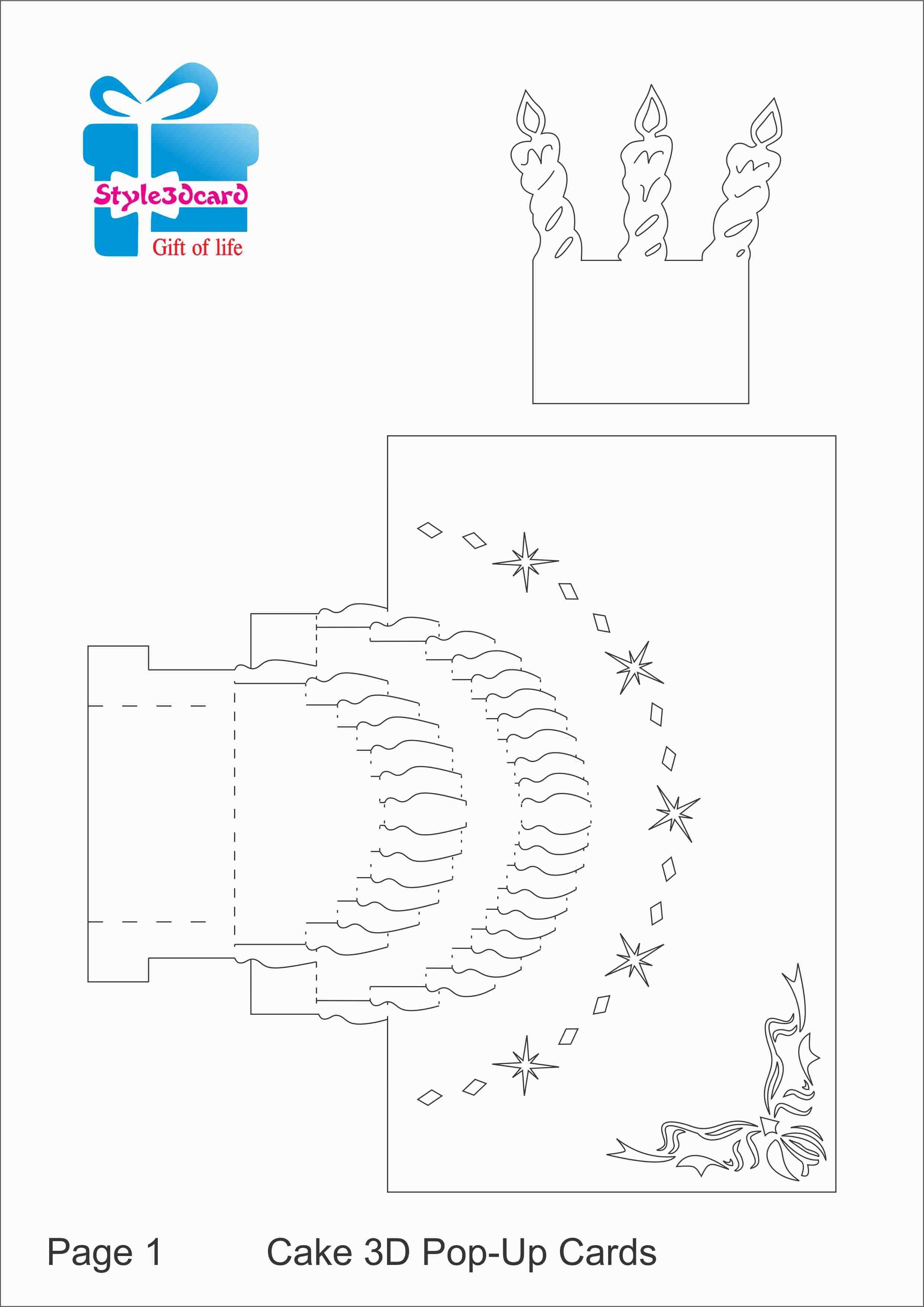 48 Free Printable 3D Birthday Card Template Free Download PSD File with 3D Birthday Card Template Free Download