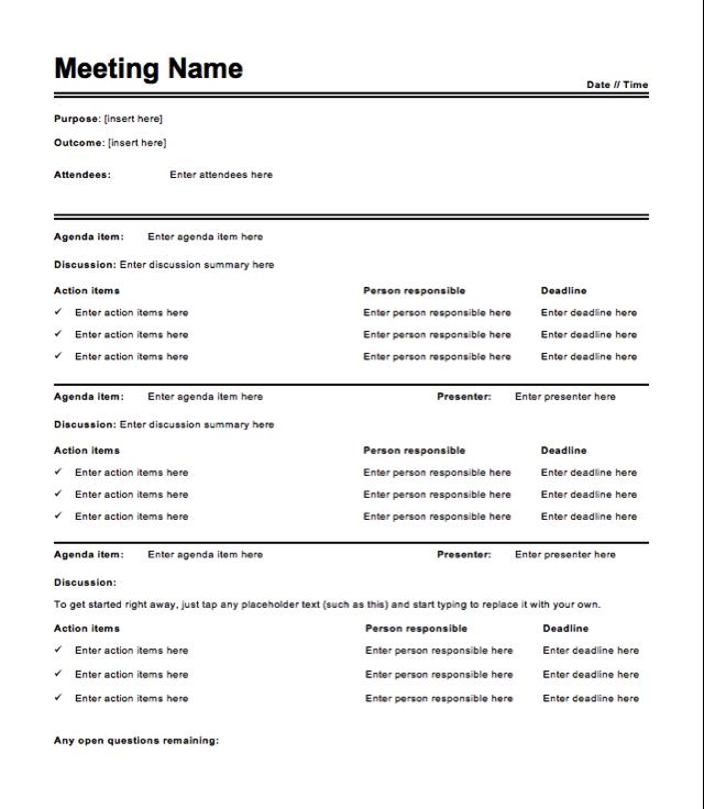 48 How To Create 30 Minute Meeting Agenda Template Download for 30 Minute Meeting Agenda Template