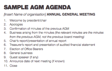 48 How To Create Agm Agenda Template Charity Layouts by Agm Agenda Template Charity
