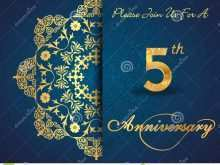 48 Online 5 Year Anniversary Card Template Photo for 5 Year Anniversary Card Template