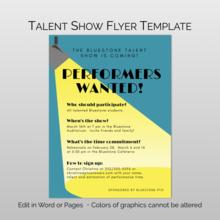 48 Online School Talent Show Flyer Template Maker for School Talent Show Flyer Template