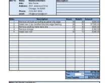Labor Service Invoice Template