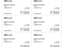 48 Report Cute Business Card Template Word for Ms Word with Cute Business Card Template Word