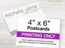 48 Standard 4X6 Postcard Printing Template PSD File with 4X6 Postcard Printing Template