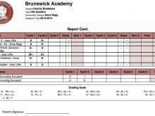 Report Card Template For Secondary School