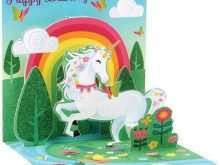 48 Standard Unicorn Pop Up Card Template Layouts with Unicorn Pop Up Card Template