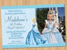 48 Visiting Cinderella Birthday Card Template With Stunning Design by Cinderella Birthday Card Template