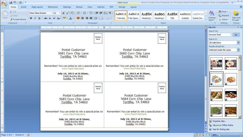 49 Blank Avery Postcard Template 4 Per Sheet Download for Avery Postcard Template 4 Per Sheet