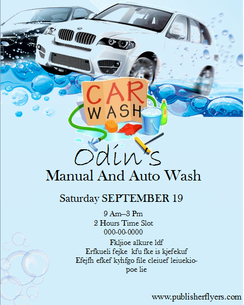 49 Create Car Wash Flyer Template Free in Word with Car Wash Flyer Template Free