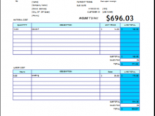 49 Create House Repair Invoice Template For Free for House Repair Invoice Template