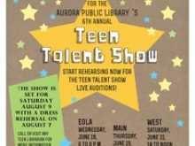 49 Create School Talent Show Flyer Template Photo with School Talent Show Flyer Template
