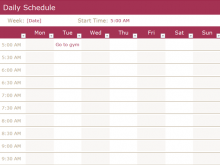 49 Creative A Daily Schedule Template Formating by A Daily Schedule Template