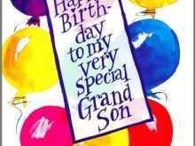 49 Creative Birthday Card Template For Grandson With Stunning Design with Birthday Card Template For Grandson