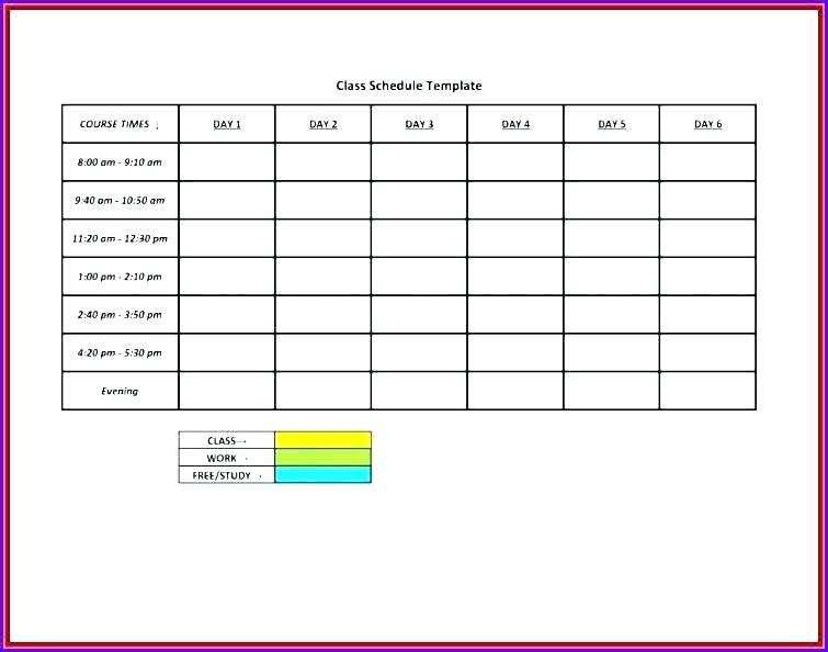 49 Customize Academic Class Schedule Template in Photoshop for Academic Class Schedule Template