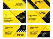 49 Customize Business Card Template Taxi in Word for Business Card Template Taxi