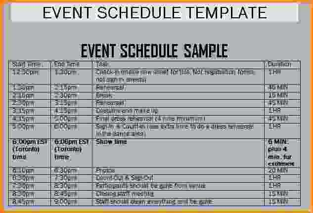 49 Customize Conference Production Schedule Template Photo for Conference Production Schedule Template