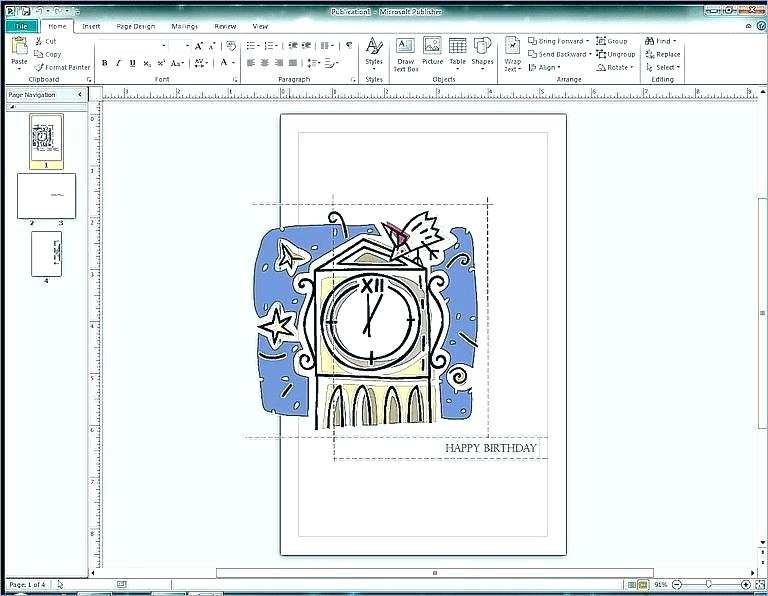 49 Format Birthday Card Template Office With Stunning Design with Birthday Card Template Office