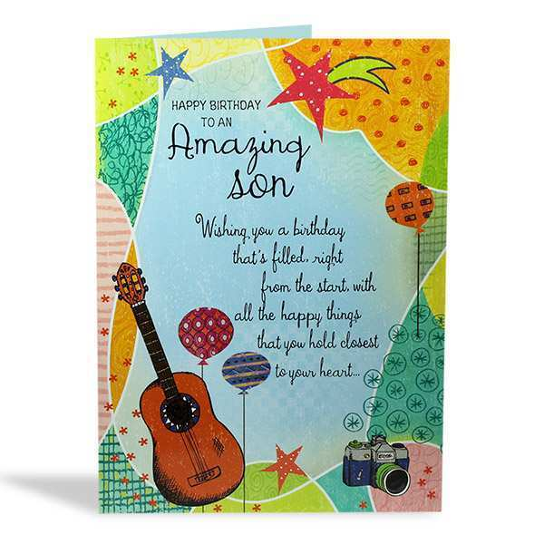 49 Free Printable Birthday Card Template Son With Stunning Design for Birthday Card Template Son