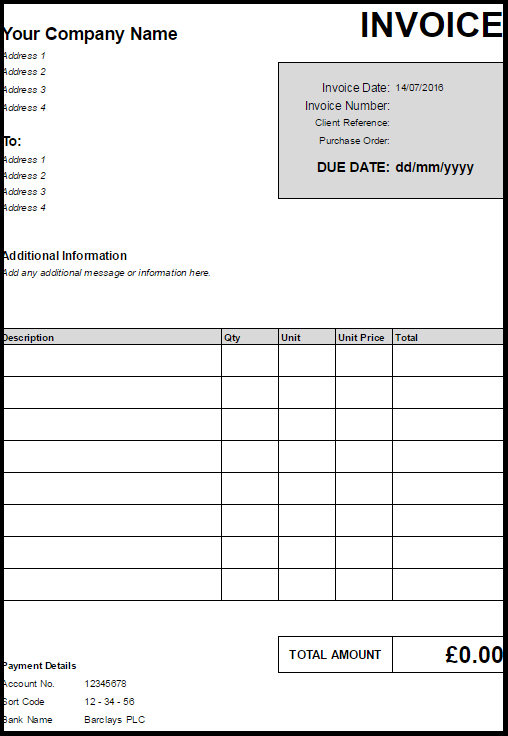 49 How To Create Invoice Template Excel Uk Photo For Invoice Template Excel Uk Cards Design Templates