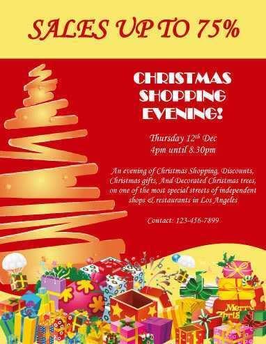49 Printable Christmas Sale Flyer Template Download by Christmas Sale Flyer Template
