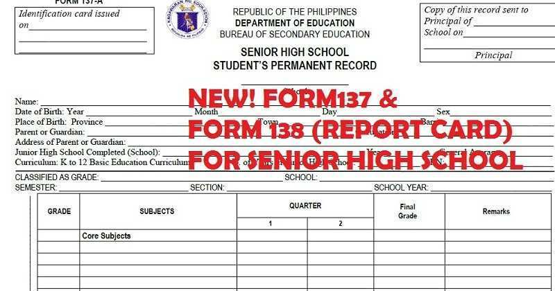 49 Report Report Card Template For Senior High School Templates For Report Card Template For Senior High School Cards Design Templates