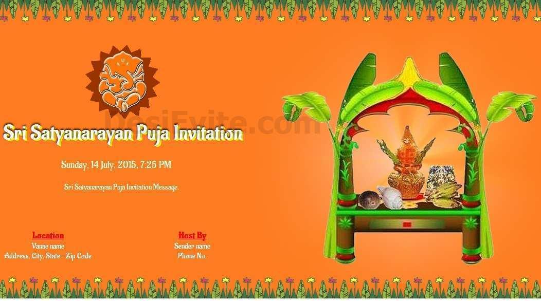 49 Standard Invitation Card Template Pooja in Word with Invitation Card Template Pooja