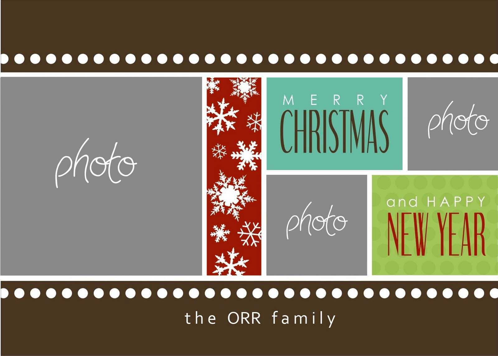 5 The Best Christmas Card Template Publisher Templates with