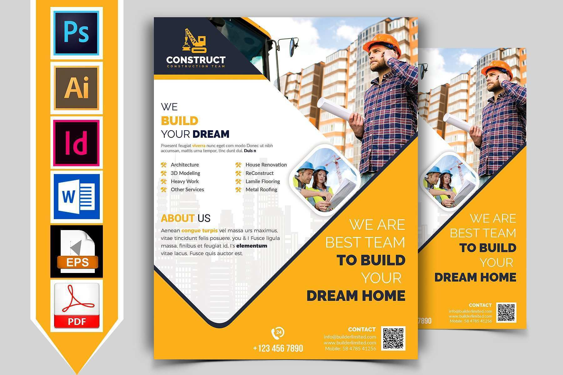 49 Visiting Construction Flyer Template Photo for Construction Flyer Template