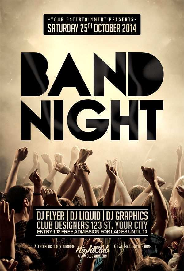50 Best Band Flyers Templates Download by Band Flyers Templates