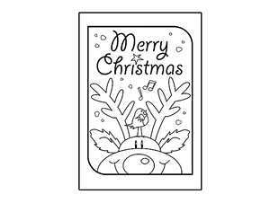 50 Christmas Card Template Colour In With Stunning Design with Christmas Card Template Colour In